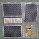 """Peek A Boo""-Premade Scrapbook Page 12x12"