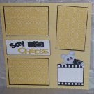 """Say Cheese Camera""-Premade Scrapbook Page 12x12"