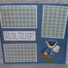 """Special Delivery""-Premade Scrapbook Page 12x12"