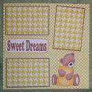"""Sweet Dreams""-Premade Scrapbook Page 12x12"
