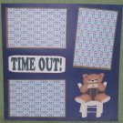 """""""Time Out""""-Premade Scrapbook Page 12x12"""