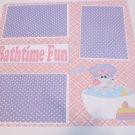 """Bathtime Fun c""-Premade Scrapbook Page 12x12"