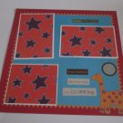 """""""Our Little Love Bug Dino""""-Premade Scrapbook Page 12x12"""