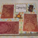 """Camping Bag/Fire""-Premade Scrapbook Page 12x12"