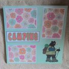 """Camping Bear a""-Premade Scrapbook Page 12x12"