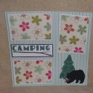 """Camping Bear and Tree a""-Premade Scrapbook Page 12x12"