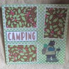 """""""Camping Bear""""-Premade Scrapbook Page 12x12"""