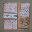 """Camping Boots""-Premade Scrapbook Page 12x12"