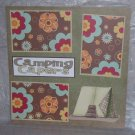 """Camping Capers""-Premade Scrapbook Page 12x12"