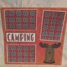 """Camping Moose""-Premade Scrapbook Page 12x12"