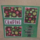 """""""Camping Sign""""-Premade Scrapbook Page 12x12"""