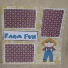 """Farm Fun Boy""-Premade Scrapbook Page 12x12"