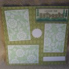 """Loving The Outdoors t""-Premade Scrapbook Page 12x12"