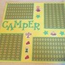 """Boy Camper""-Premade Scrapbook Page 12x12"