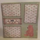 """Please Do Not Feed The Bears""-Premade Scrapbook Page 12x12"