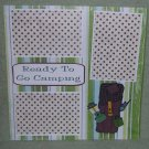 """Ready To Go Camping""-Premade Scrapbook Page 12x12"