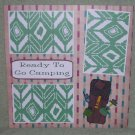 """Ready To Go Camping b""-Premade Scrapbook Page 12x12"