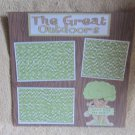"""""""The Great Outdoors Bl""""-Premade Scrapbook Page 12x12"""