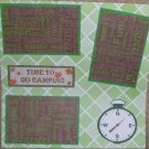 """""""Time To Go Camping""""-Premade Scrapbook Page 12x12"""