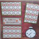 """Time To Go Camping a""-Premade Scrapbook Page 12x12"