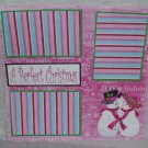 """A Perfect Christmas""-Premade Scrapbook Page 12x12"