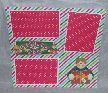 """""""Christmas Is For Kids Son""""-Premade Scrapbook Page 12x12"""