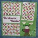 """Christmoose Caroling""-Premade Scrapbook Page 12x12"
