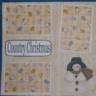 """Country Christmas""-Premade Scrapbook Page 12x12"