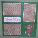 """Doggone Christmas Skates""-Premade Scrapbook Page 12x12"