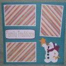"""Family Traditions""-Premade Scrapbook Page 12x12"