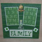 """Family""-Premade Scrapbook Page 12x12"
