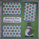 """""""Getting The Perfect Tree""""-Premade Scrapbook Page 12x12"""