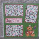 """Happy Holidays Bear""-Premade Scrapbook Page 12x12"