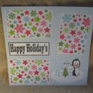 """Happy Holidays Igloo""-Premade Scrapbook Page 12x12"