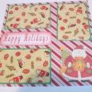 """Happy Holidays Santa and Bear""-Premade Scrapbook Page 12x12"