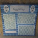 """""""Happy Holidays Snowman 2a""""-Premade Scrapbook Page 12x12"""