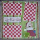 """Happy Howlidays""-Premade Scrapbook Page 12x12"