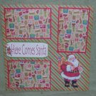 """""""Here Comes Santa""""-Premade Scrapbook Page 12x12"""
