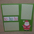 """""""Ho Ho Ho""""-Premade Scrapbook Page 12x12"""