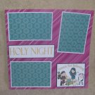 """Holy Night Manger""-Premade Scrapbook Page 12x12"