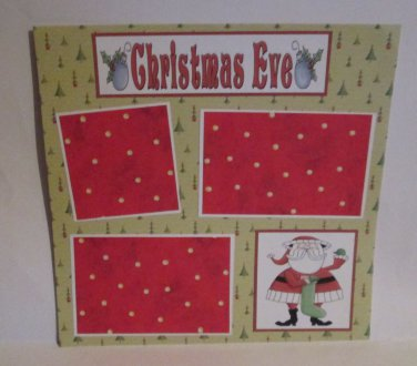 """""""Christmas Eve bl c""""-Premade Scrapbook Page 12x12"""