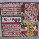 """I Got A Puppy a""-Premade Scrapbook Page 12x12"
