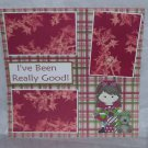 """""""I've Been Really Good Girl js a""""-Premade Scrapbook Page 12x12"""