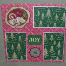 """Joy""-Premade Scrapbook Page 12x12"