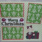 """""""Merry Christmas Baby ar""""-Premade Scrapbook Page 12x12"""