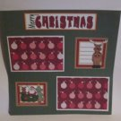 """Merry Christmas Deer bl c""-Premade Scrapbook Page 12x12"