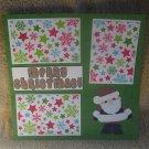"""Merry Christmas Santa 2tm""-Premade Scrapbook Page 12x12"