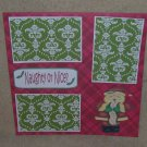 """Naughty or Nice""-Premade Scrapbook Page 12x12"