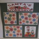 """Santa's Workshop bl c1""-Premade Scrapbook Page 12x12"