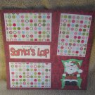 """Sitting on Santa's Lap 1c""-Premade Scrapbook Page 12x12"